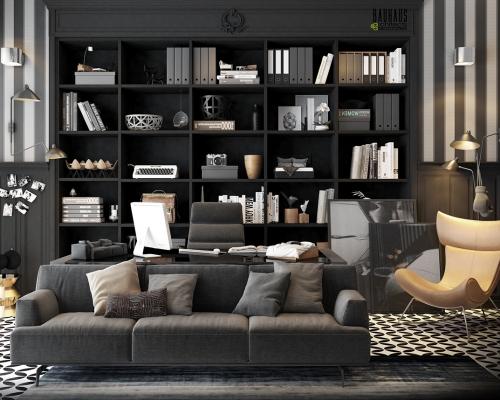 Black-home-office-desk