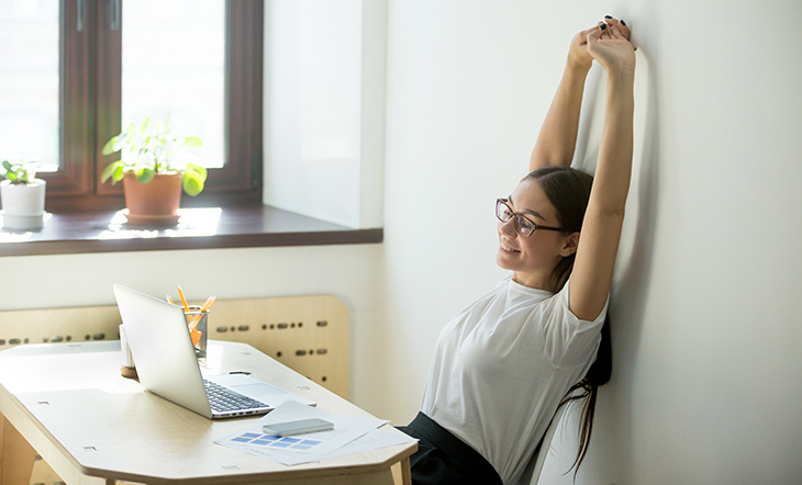 Check Out This Office Yoga to Become More Grounded at Work